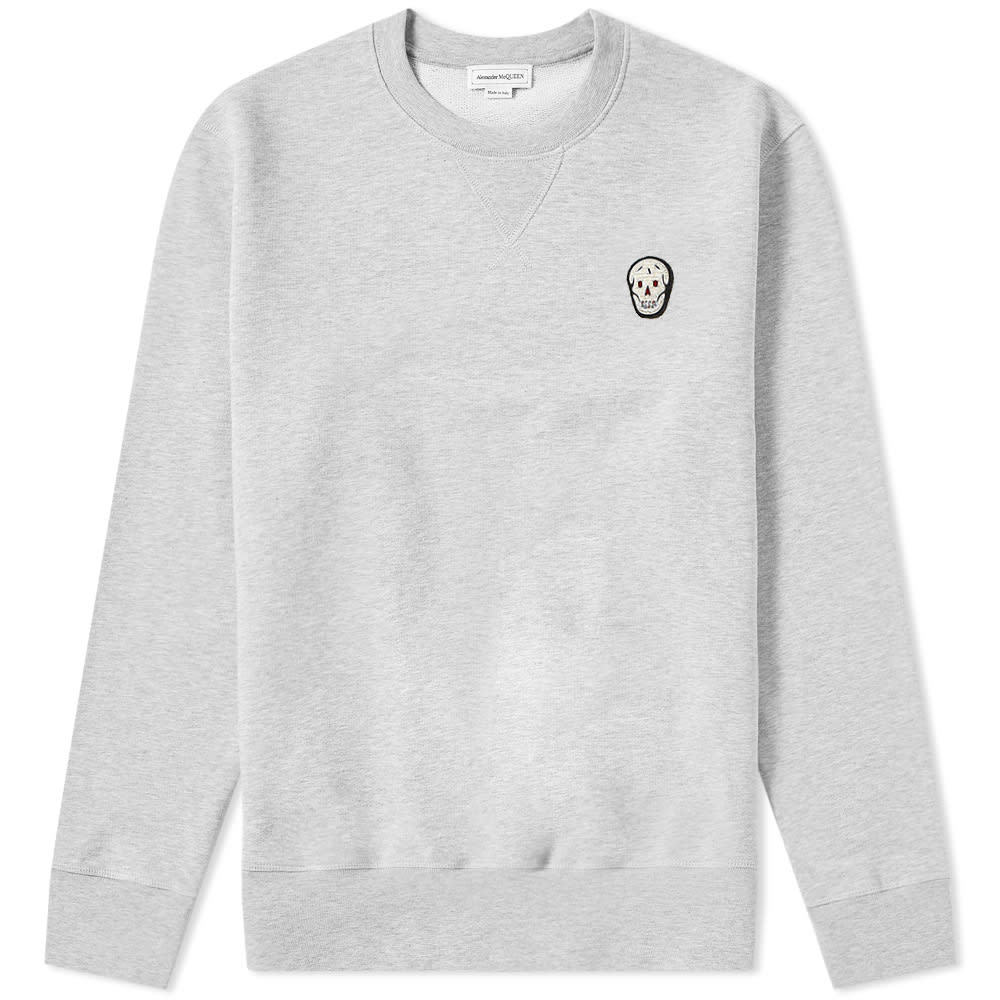 Photo: Alexander McQueen Classic Jersey Skull Crew Sweat Pale Grey