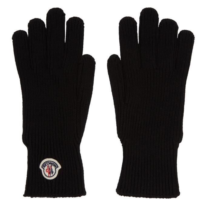 Photo: Moncler Black Wool Gloves