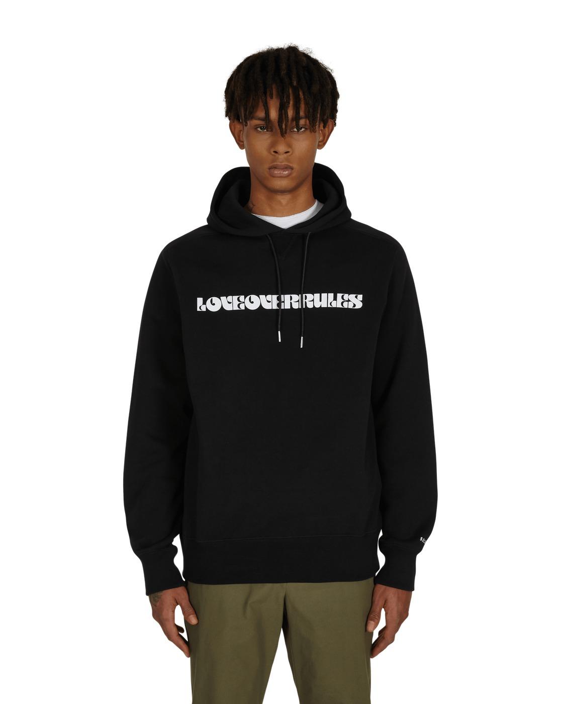 Sacai Hank Willis Thomas Graphic Hooded Sweatshirt Black/White