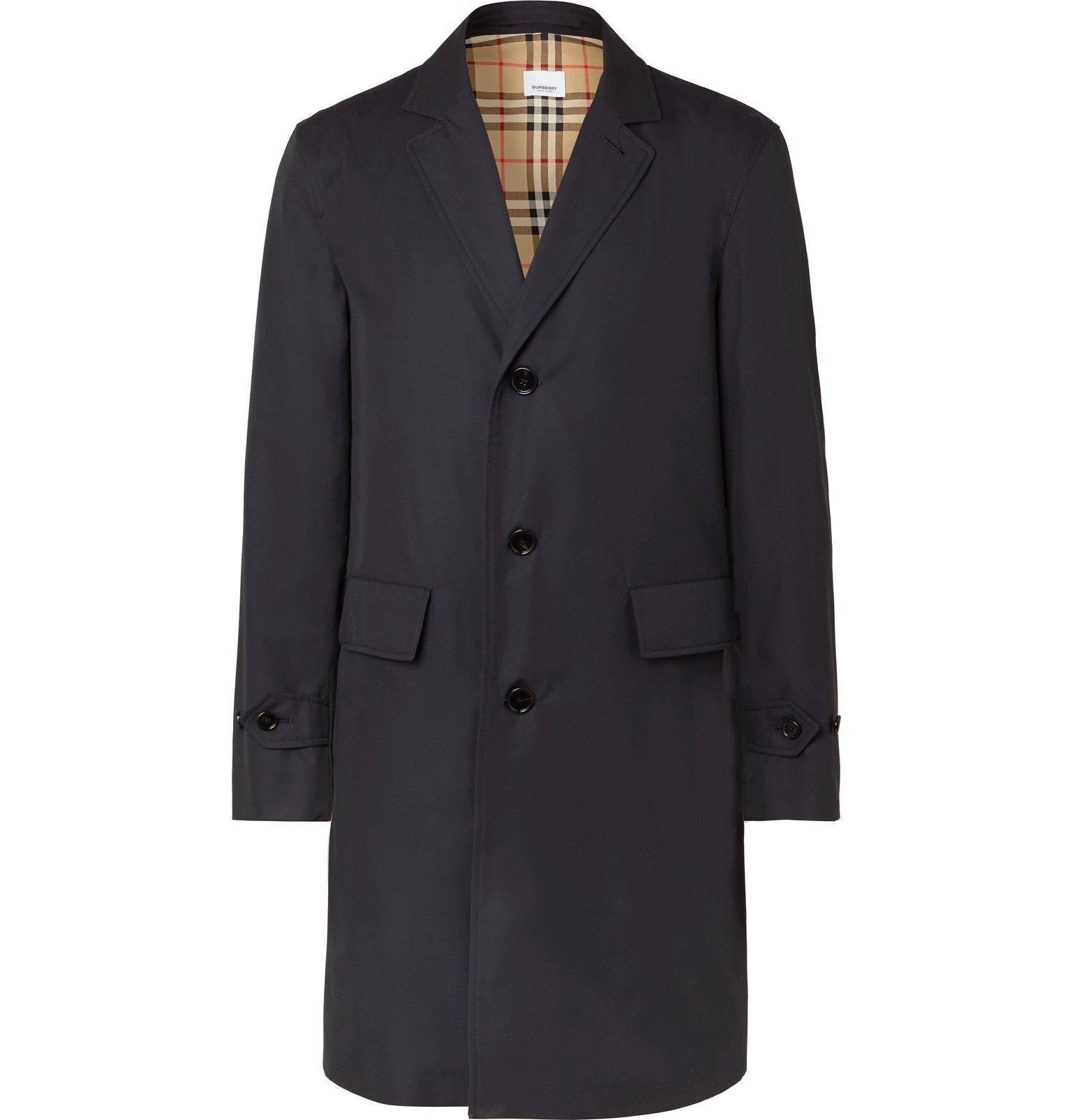 Photo: Burberry - Cotton-Gabardine Coat - Blue