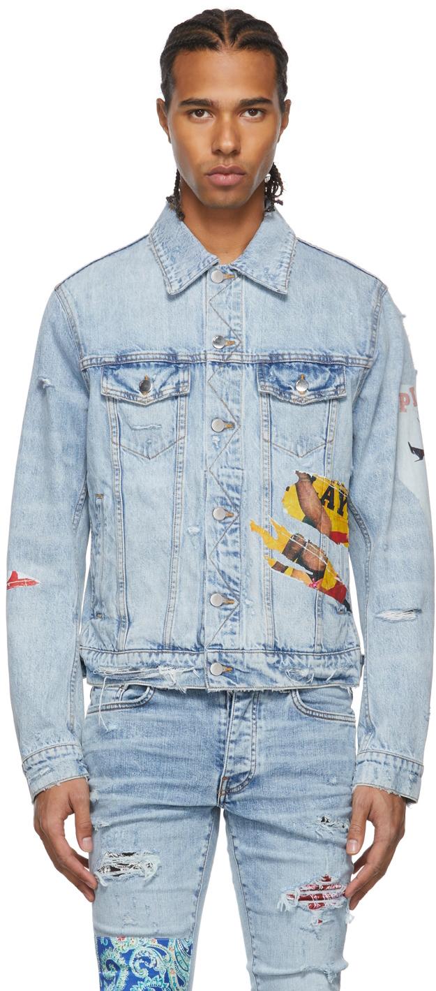 Photo: AMIRI Blue Playboy Magazine Trucker Denim Jacket