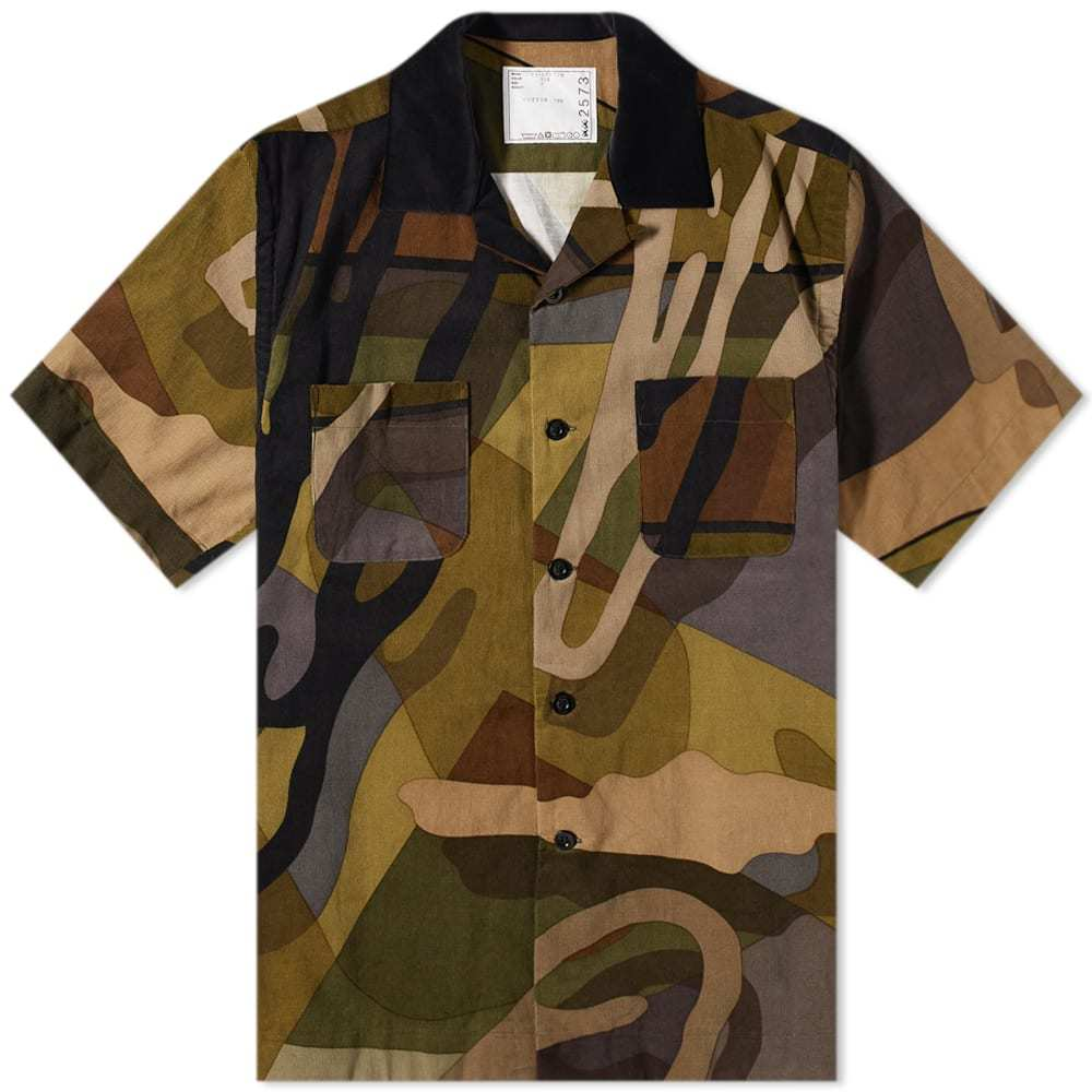 Photo: Sacai x KAWS Short Sleeve Corduroy Shirt