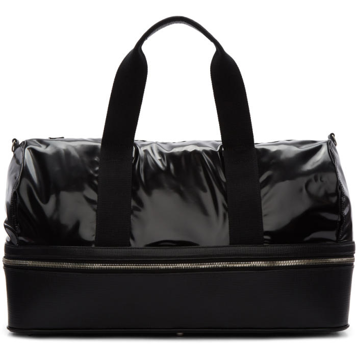 Photo: Maison Margiela Black Vinyl Zip-Around Duffle Bag