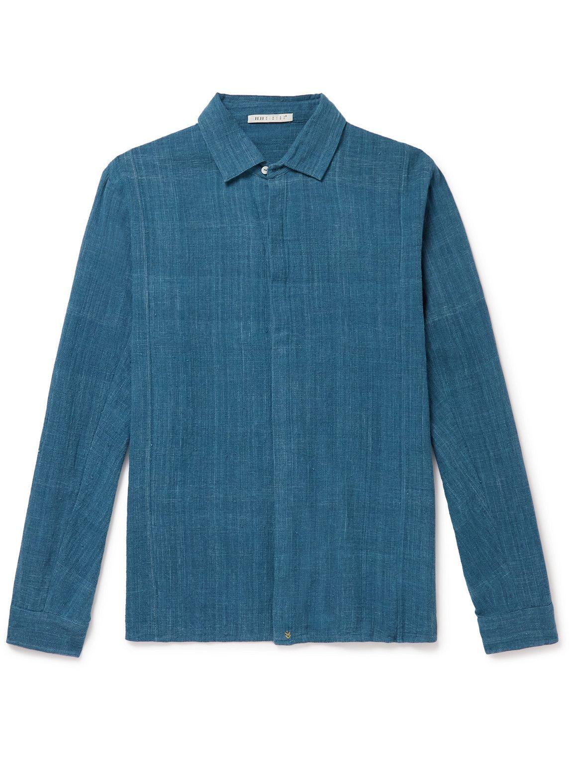 Photo: 11.11/eleven eleven - Cotton Shirt - Blue