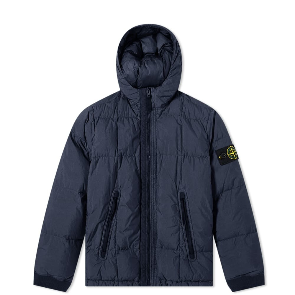 Photo: Stone Island Junior Short Crinkle Reps Down Jacket