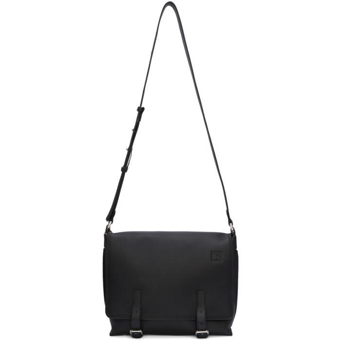 Photo: Loewe Black Small Military Messenger Bag