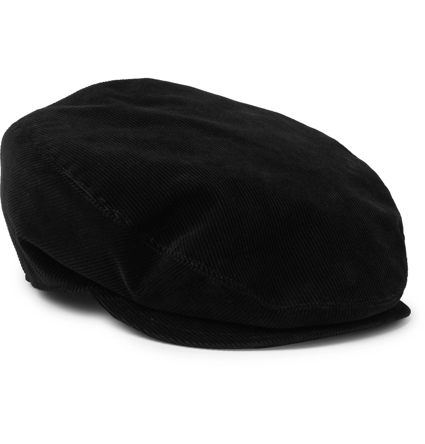 Photo: Dolce & Gabbana - Cotton-Corduroy Flat Cap - Black