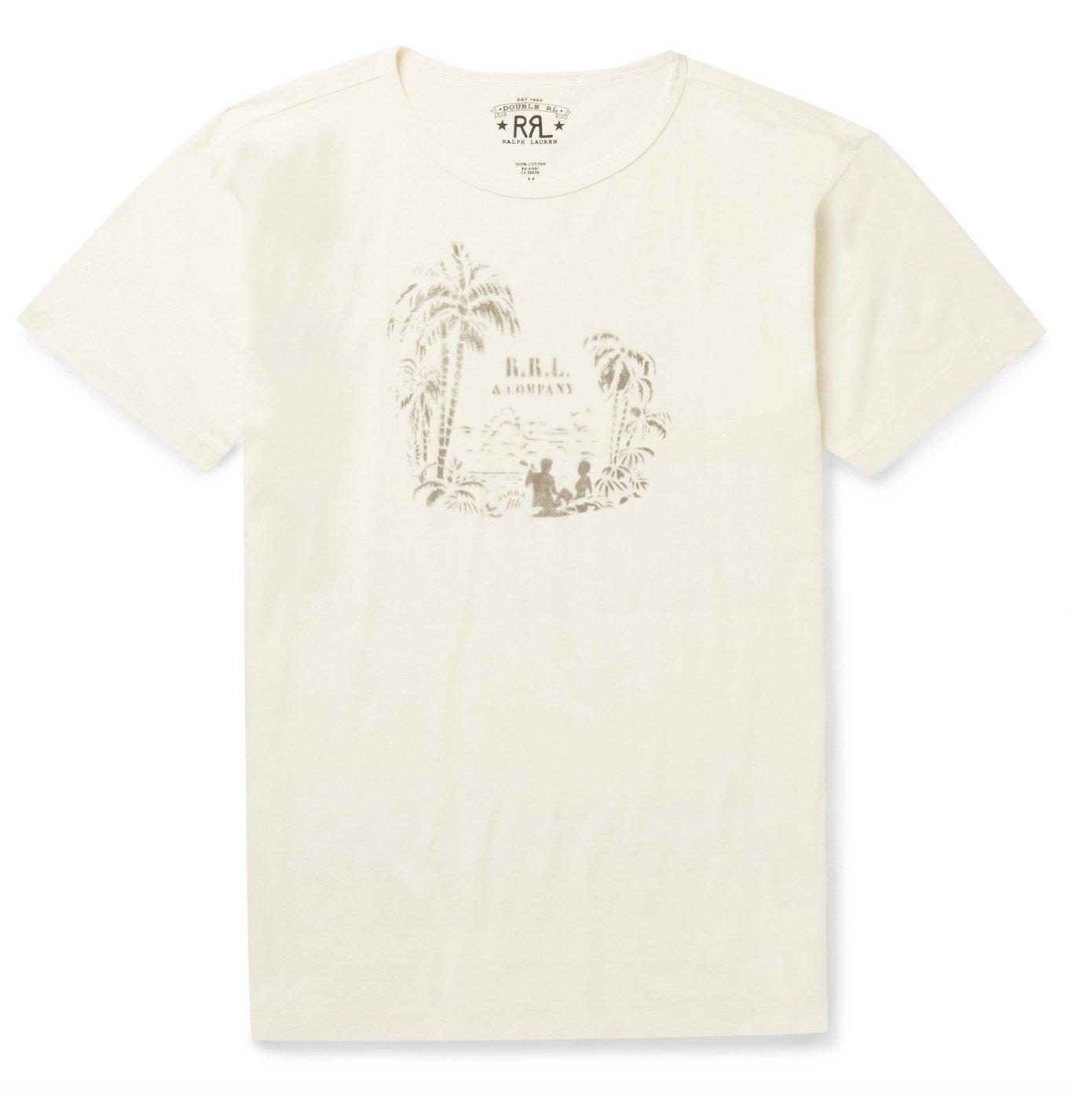 RRL - Printed Cotton-Jersey T-Shirt - White
