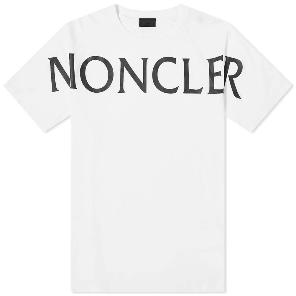 Photo: Moncler Macro Text Logo Tee