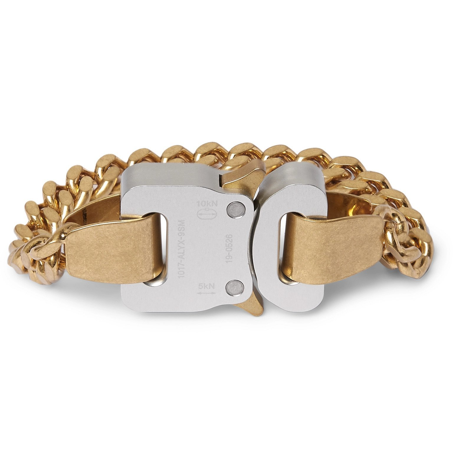 Photo: 1017 ALYX 9SM - Gold and Silver-Tone Bracelet - Gold
