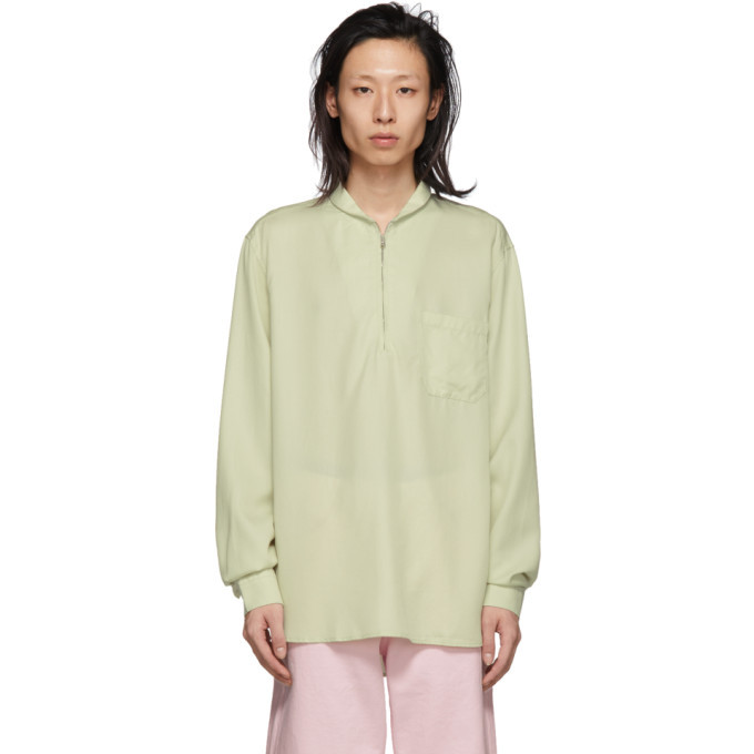 Photo: Our Legacy Off-White Shawl Zip Shirt