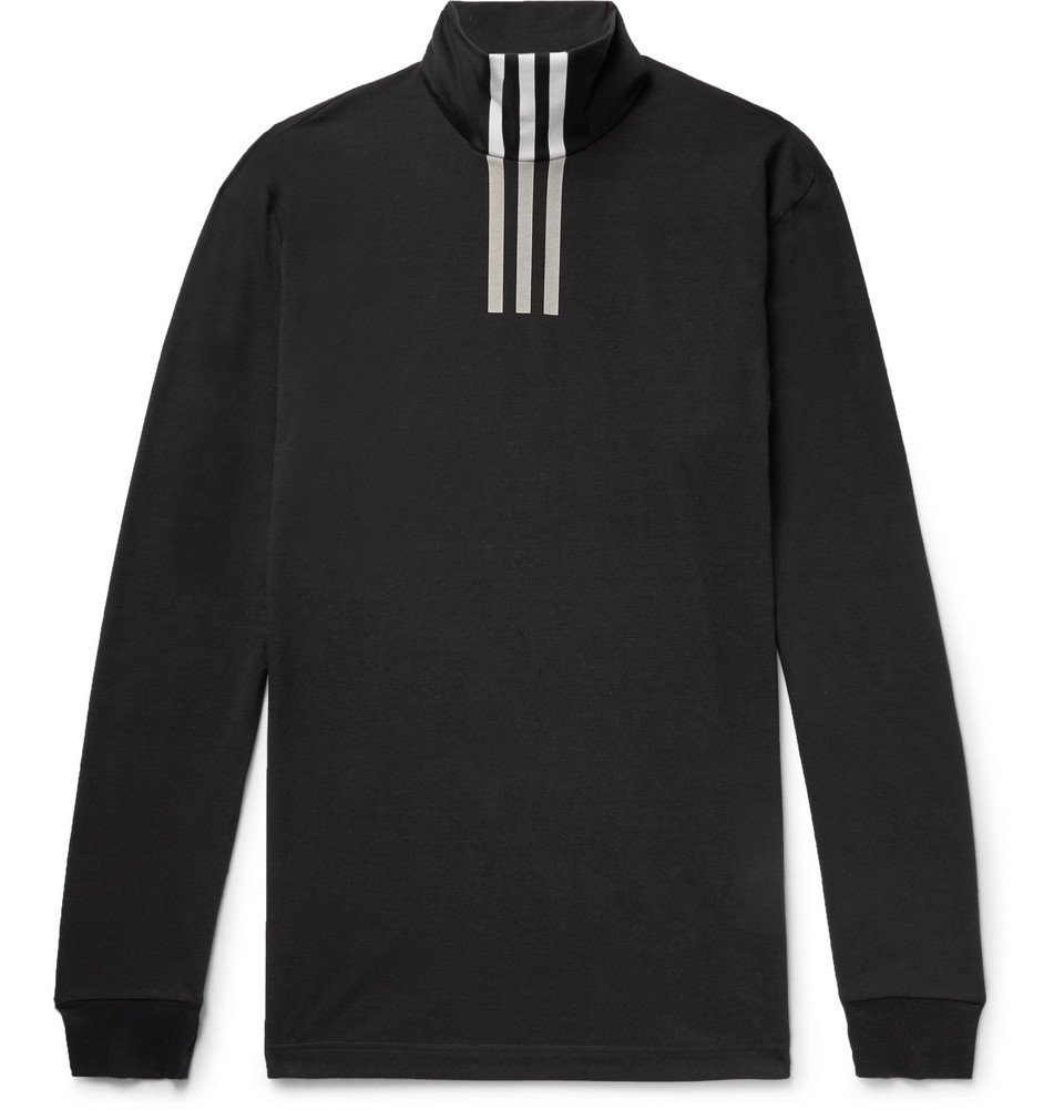 Photo: Y-3 - Printed Cotton-Blend Jersey Rollneck T-Shirt - Black