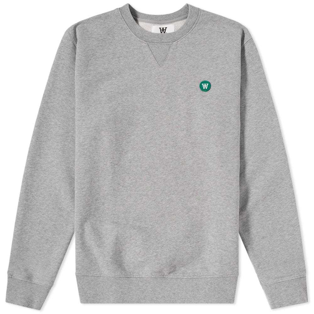 Wood Wood Tye Crew Sweat Grey Melange