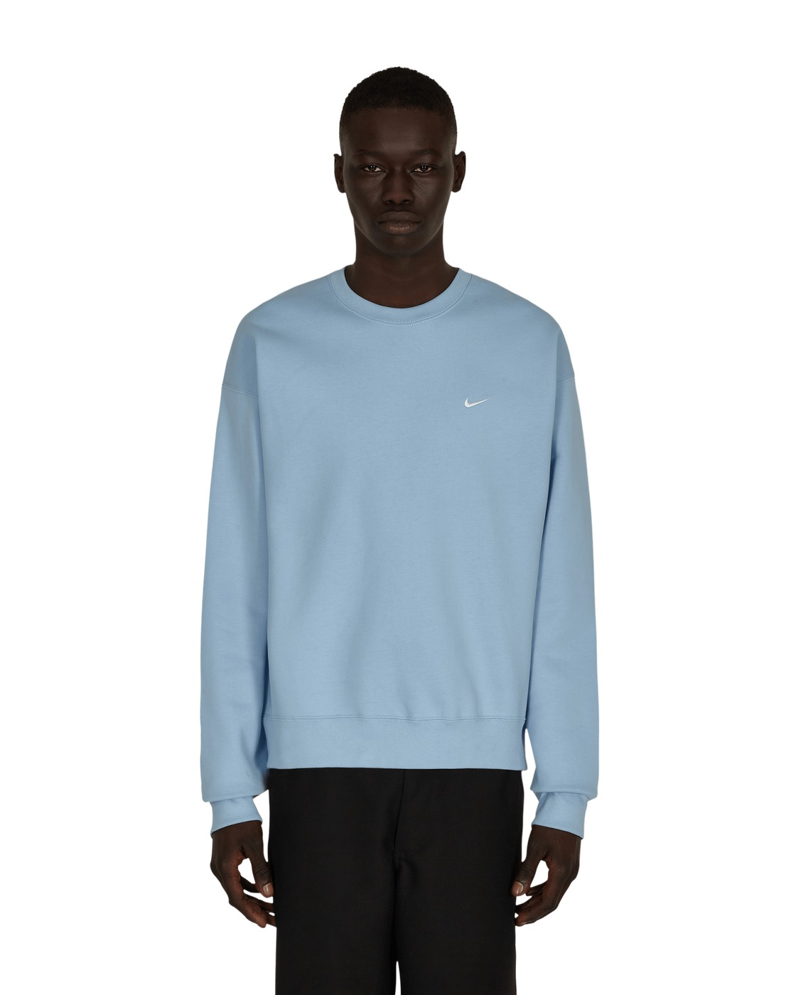 Photo: Nike Special Project Solo Swoosh Crewneck Sweatshirt Psychic Blue/White