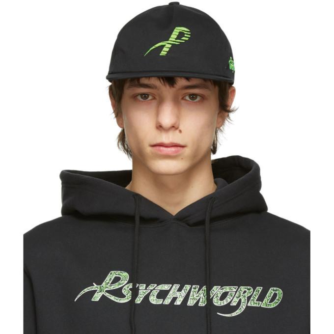 Photo: Psychworld Black and Green Logo Cap