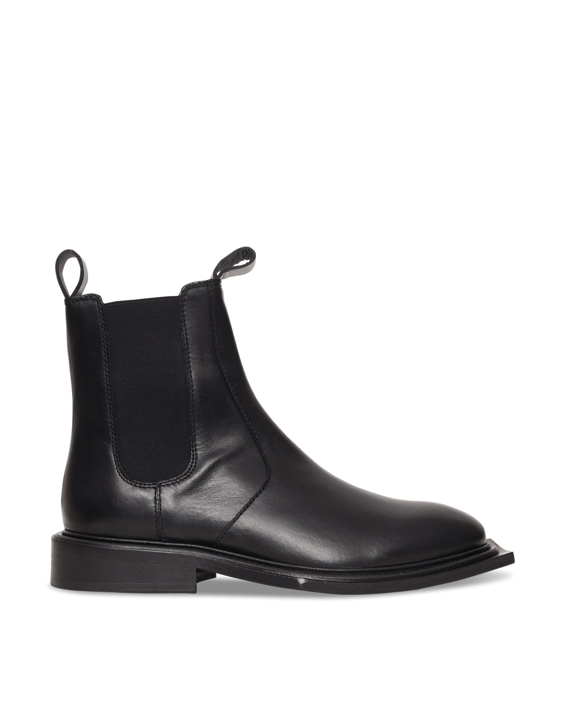Martine Rose Hacienda Leather Boots Black/Black