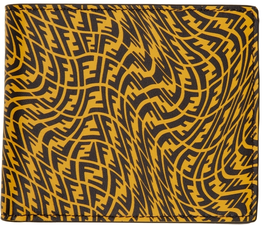 Photo: Fendi Yellow FF Vertigo Bifold Wallet