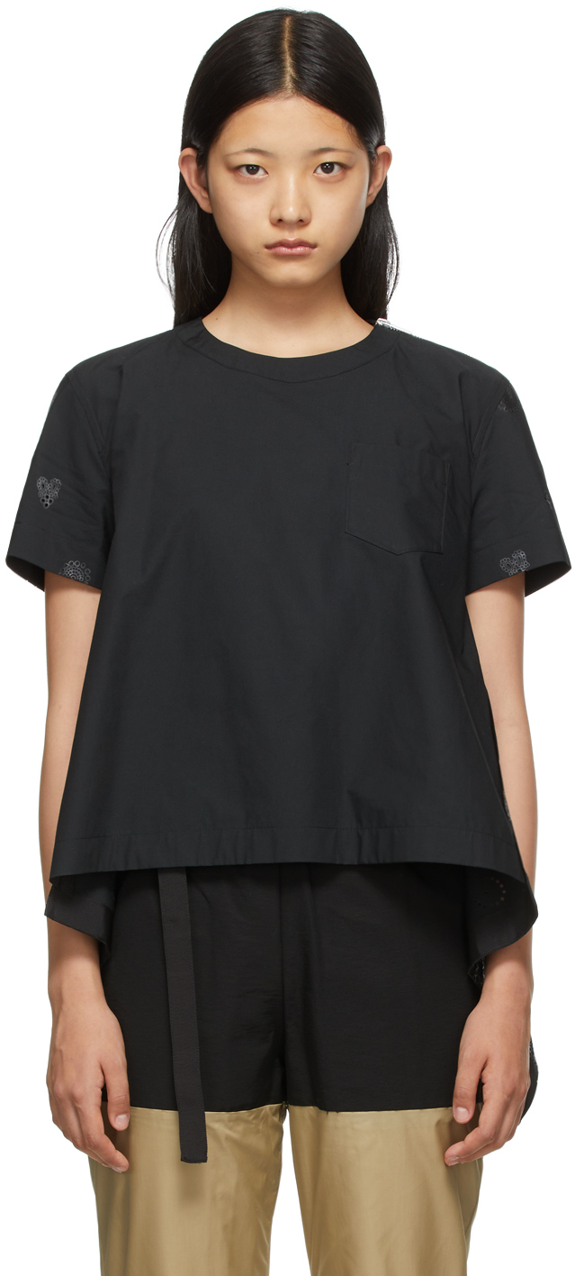 Sacai Black Bandana Opal Cut-Out Shirt