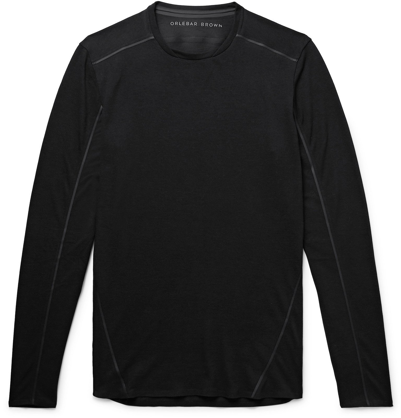 Photo: Orlebar Brown - OB-T Sport Bonded Piqué T-Shirt - Black