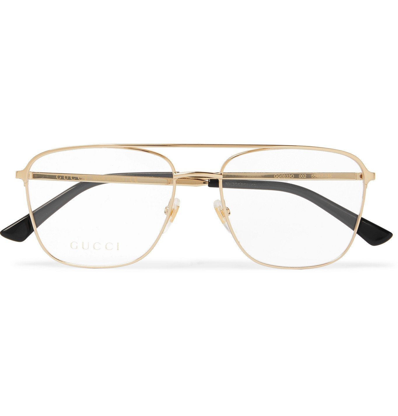 Photo: Gucci - Aviator-Style Gold-Tone Optical Glasses - Gold