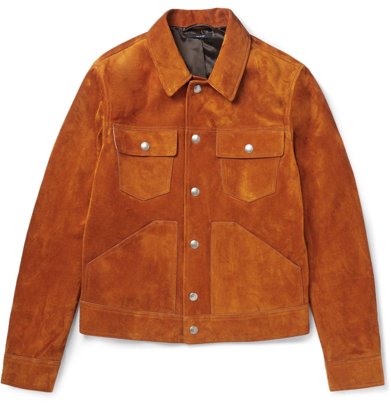 Photo: TOM FORD - Suede Trucker Jacket - Orange