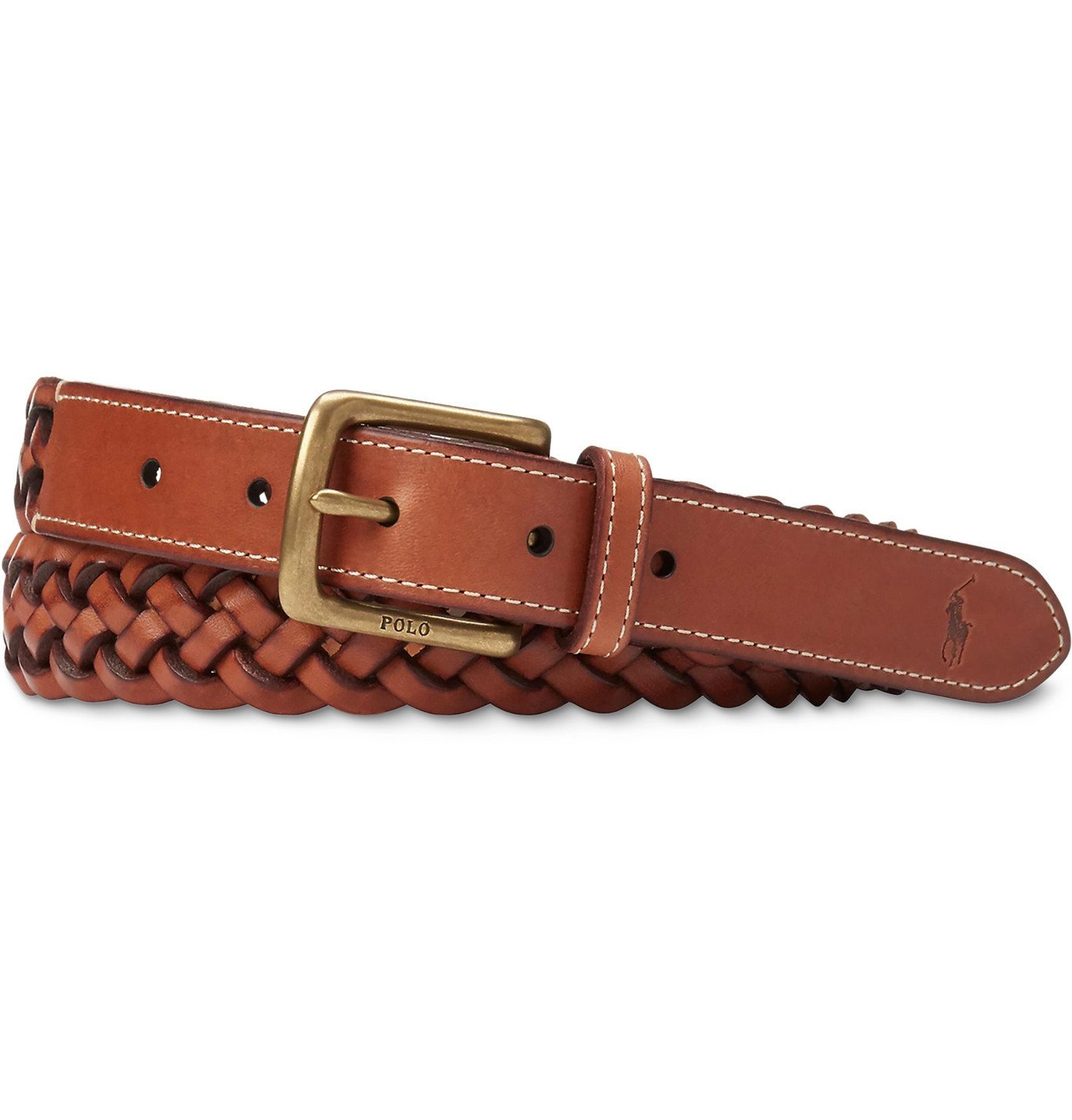 Photo: Polo Ralph Lauren - Woven Leather Belt - Brown