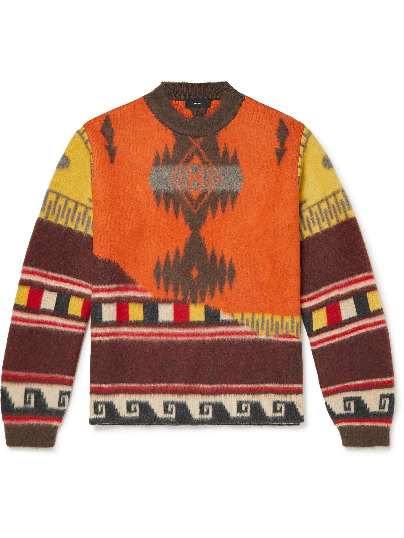 Photo: Alanui - Over the Andes Brushed Wool-Jacquard Sweater - Multi
