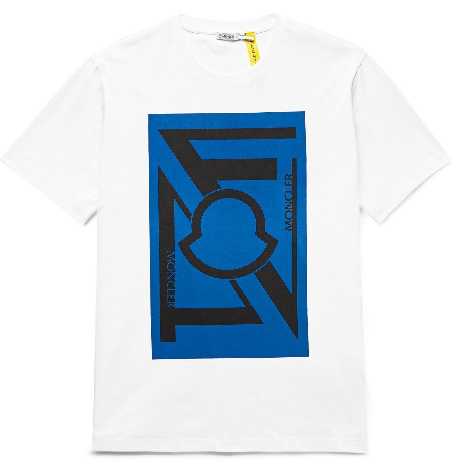 Photo: Moncler Genius - 5 Moncler Craig Green Logo-Print Cotton-Jersey T-Shirt - White