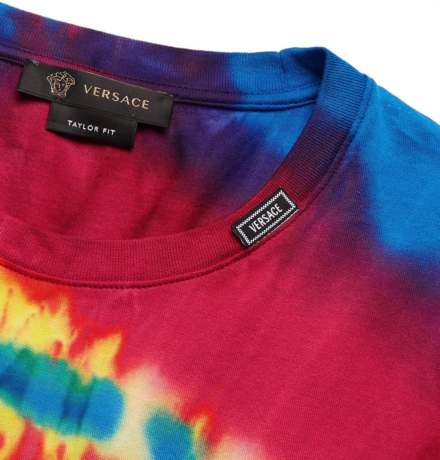 Versace - Slim-Fit Tie-Dyed Cotton-Jersey T-Shirt - Multi