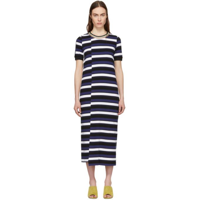 3.1 Phillip Lim Navy Striped Midi Dress