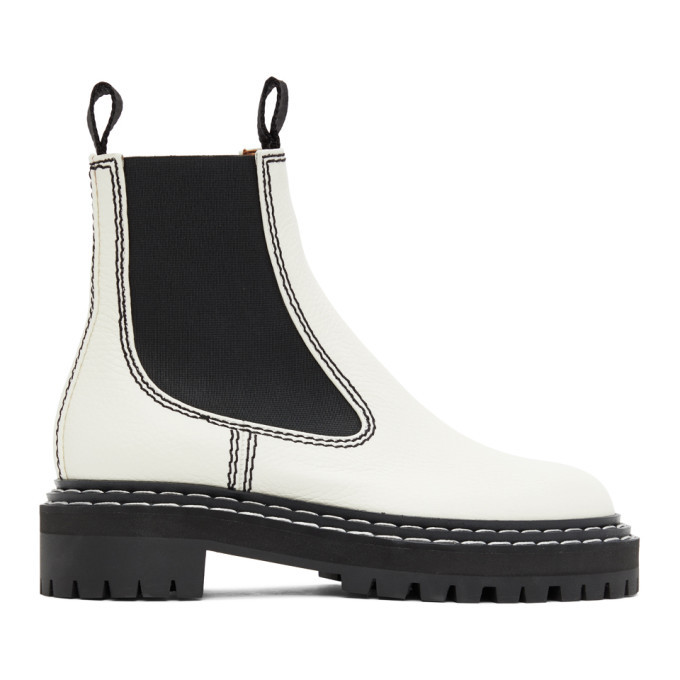 Photo: Proenza Schouler White Leather Chelsea Boots