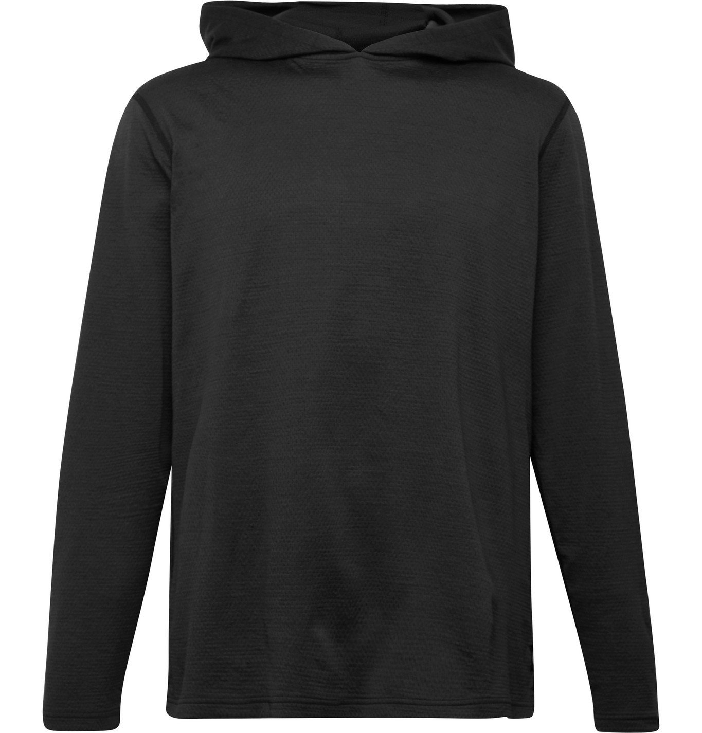 Photo: Reigning Champ - Mélange SOLOTEX Mesh Hoodie - Black