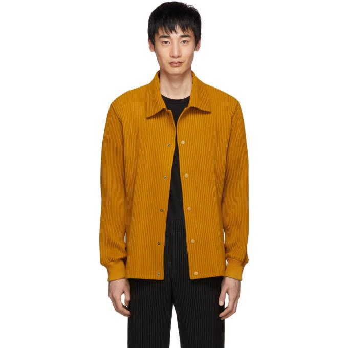Photo: Homme Plisse Issey Miyake Yellow Pleated Shirt
