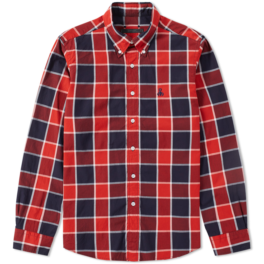 Photo: SOPHNET. Scorpion Embroidered Check Shirt