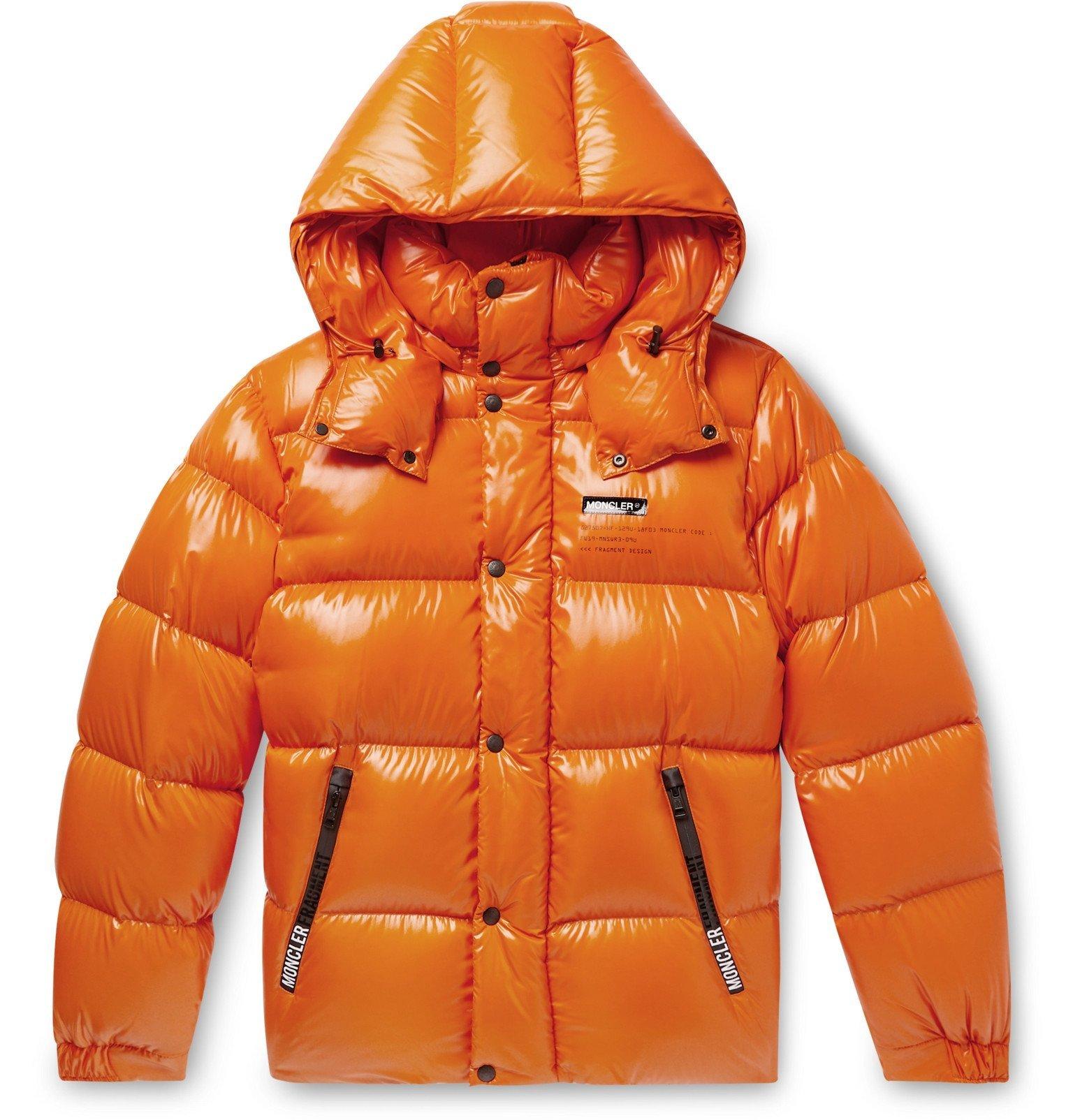 Photo: Moncler Genius - 7 Moncler Fragment Hanriot Quilted Nylon Hooded Down Jacket - Orange
