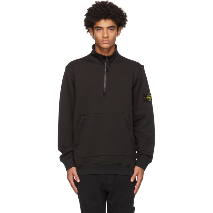 Photo: Stone Island Black Half-Zip Sweatshirt