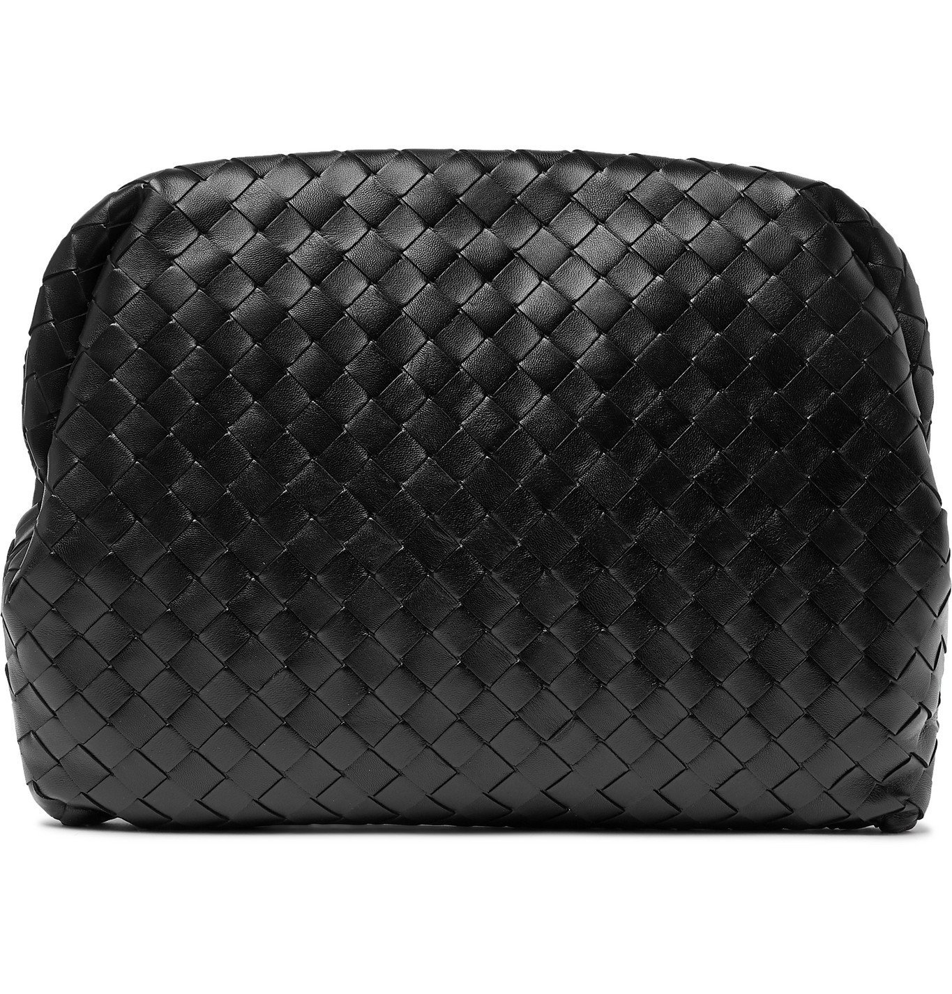 Photo: Bottega Veneta - Intrecciato Leather Pouch - Black