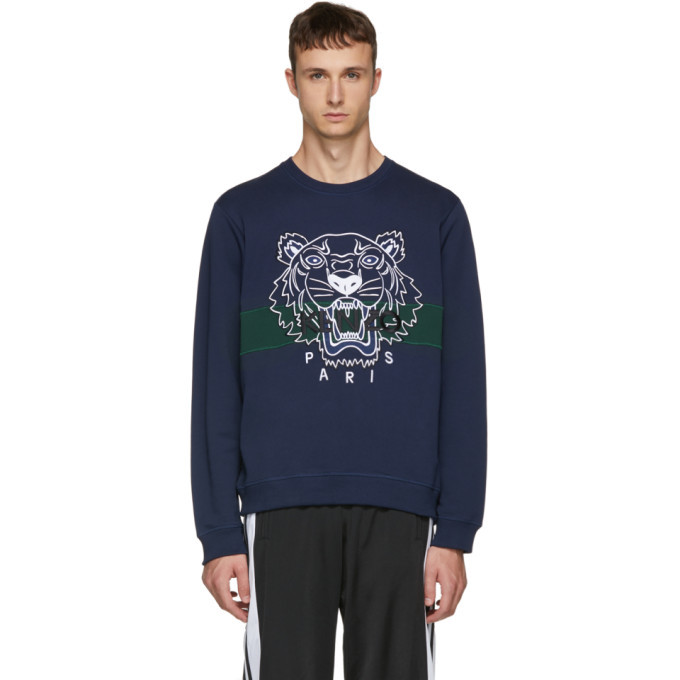 Navy Urban Tiger Sweatshirt Cheap Sale Great Deals From China Free Shipping Discount For Sale Cheap Sale Extremely Yigfj