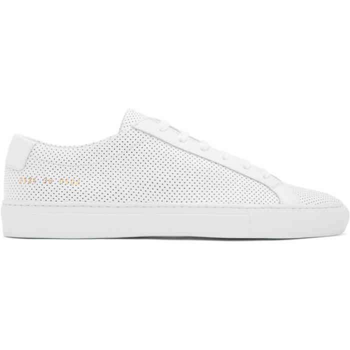 Common Projects White Achilles Low Perforated Sneakers