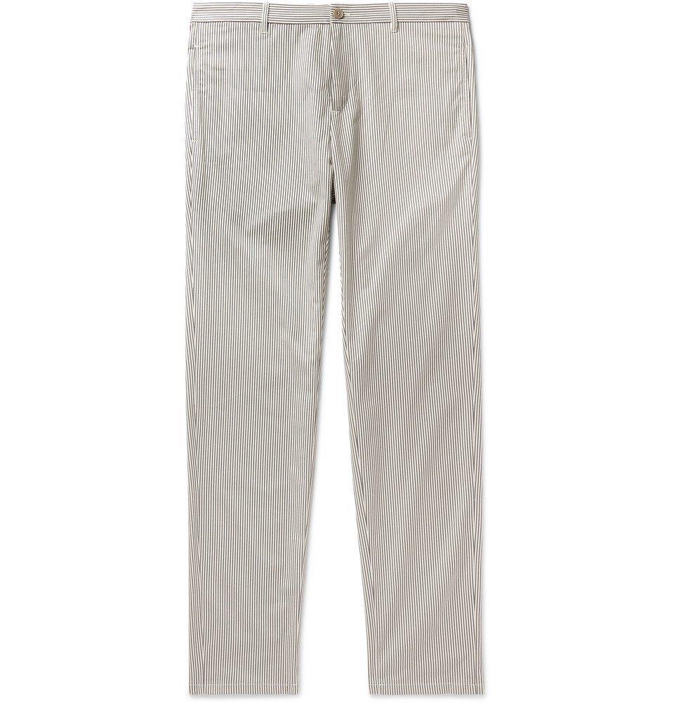 Photo: A.P.C. - Pat Striped Cotton-Blend Gabardine Chinos - Gray