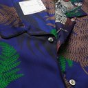 Sacai - Camp-Collar Patchwork Printed Voile Shirt - Blue