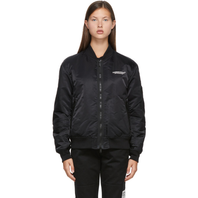 Photo: Undercover Reversible Black Nylon Bomber Jacket