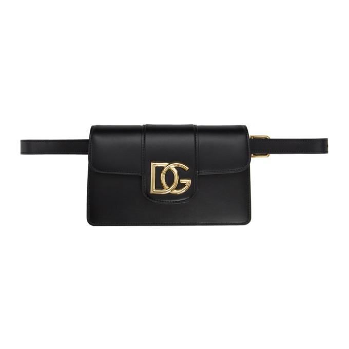 Photo: Dolce and Gabbana Black HW DG Belt Bag