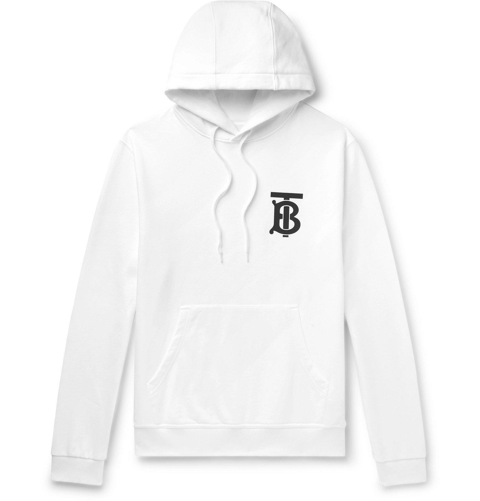 Photo: Burberry - Logo-Appliquéd Loopback Cotton-Jersey Hoodie - White
