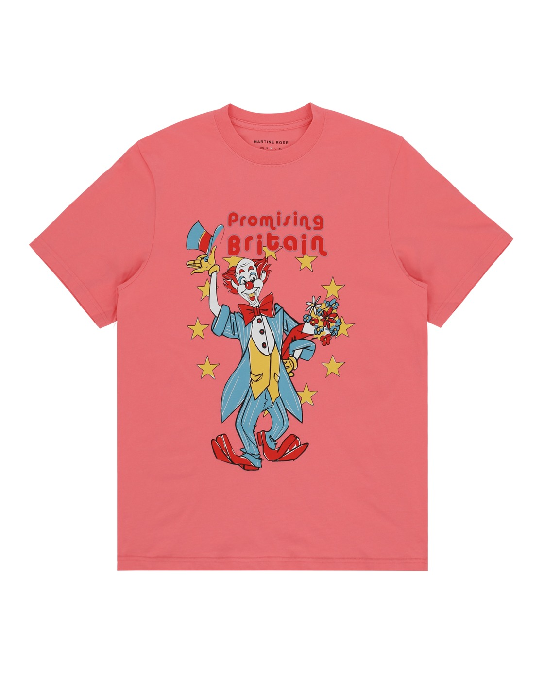 Martine Rose Clown Artwork T Shirt Peach