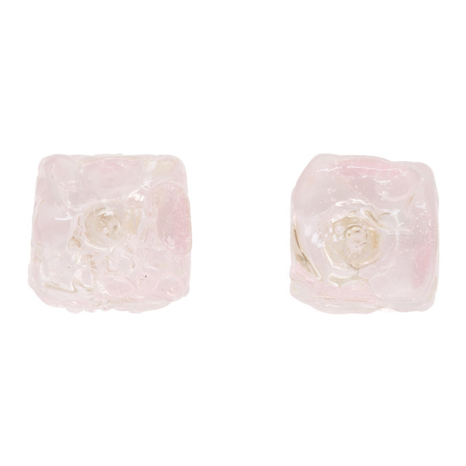 Photo: Maryam Nassir Zadeh Pink Cube Earrings