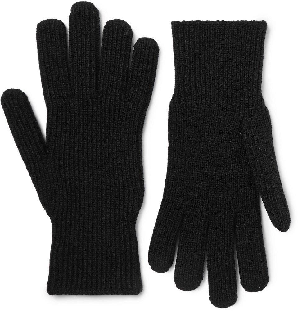 Photo: Moncler - Logo-Appliquéd Virgin Wool Gloves - Black