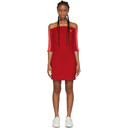 adidas Originals Red Off-The-Shoulder Dress