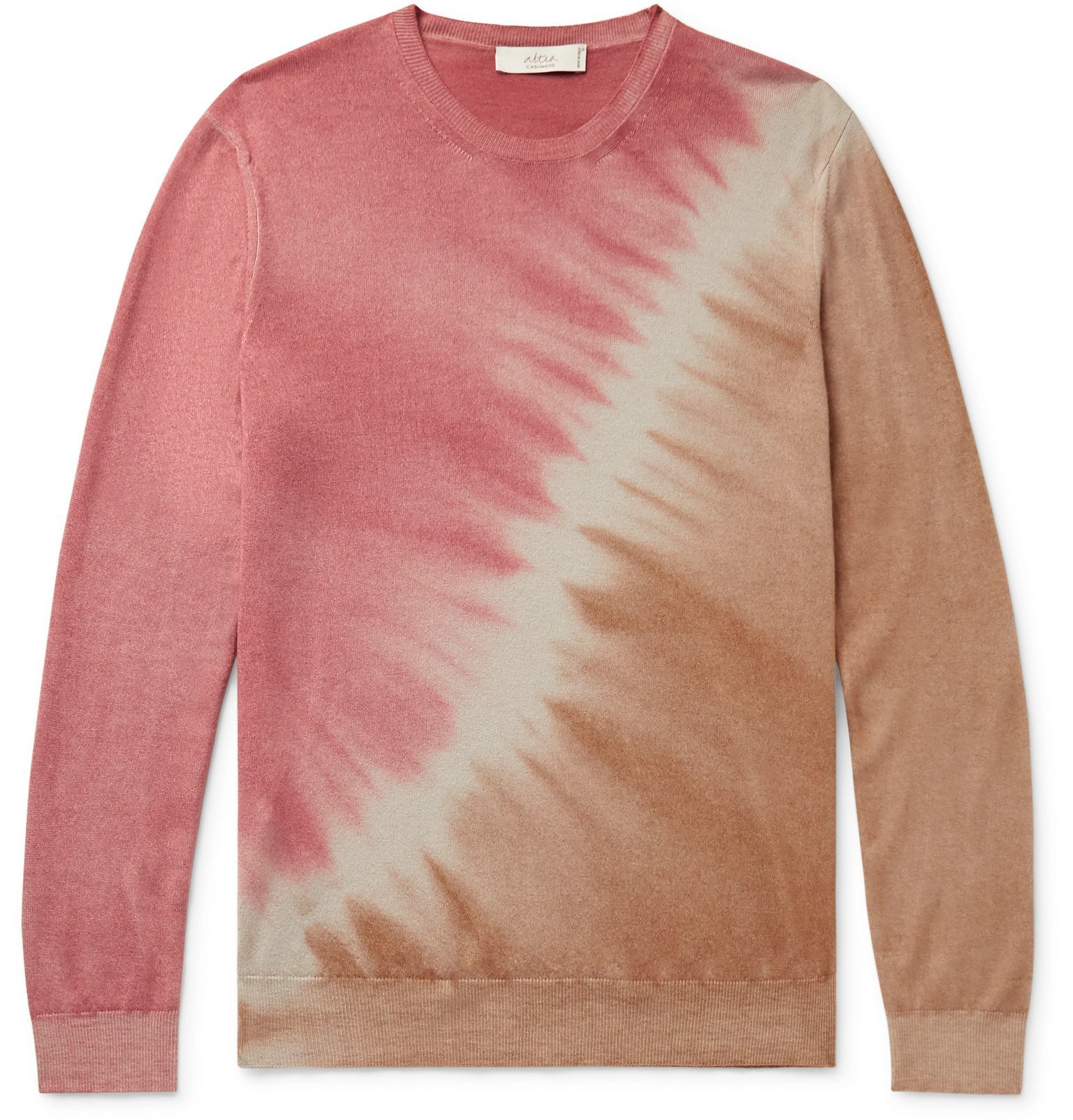 Photo: Altea - Tie-Dyed Cashmere Sweater - Pink