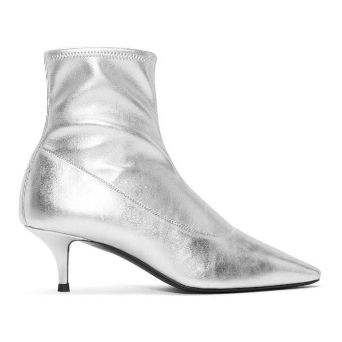 Photo: Giuseppe Zanotti Silver Stretch Ankle Boots